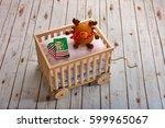 toy reindeer and christmas...   Shutterstock . vector #599965067