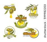 olive oil vector icons set for... | Shutterstock .eps vector #599982203