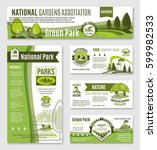 green gardening and nature... | Shutterstock .eps vector #599982533