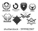 baseball icons of baseball... | Shutterstock .eps vector #599982587