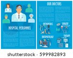 hospital personnel and clinic... | Shutterstock .eps vector #599982893