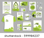 corporate identity templates... | Shutterstock .eps vector #599984237
