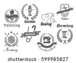 Sewing Or Tailor Vector Icons....