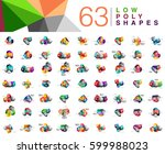 mega collection of 63 triangle... | Shutterstock .eps vector #599988023