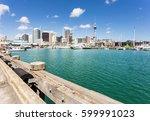 viaduct harbour in the trendy... | Shutterstock . vector #599991023