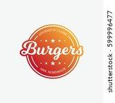 burgers label | Shutterstock .eps vector #599996477