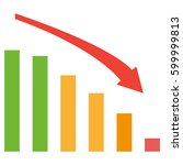 business down chart with...   Shutterstock . vector #599999813