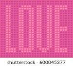 love heart pattern pattern of... | Shutterstock .eps vector #600045377