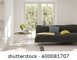 white room with sofa and green... | Shutterstock . vector #600081707