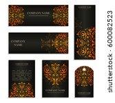 set of design templates for... | Shutterstock .eps vector #600082523