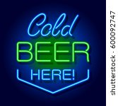 Neon Signboard Cold Beer Here....