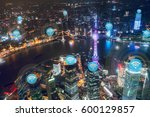 shanghai city network... | Shutterstock . vector #600129857