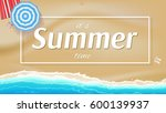 summer background  banner with... | Shutterstock .eps vector #600139937