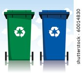 recycling bins - stock vector