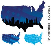 vector map of the usa | Shutterstock .eps vector #60014836