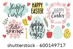 easter holiday hand drawn... | Shutterstock .eps vector #600149717