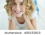young woman in braces | Shutterstock . vector #600152813