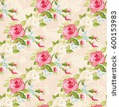 seamless floral pattern with... | Shutterstock .eps vector #600153983