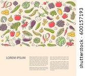 agricultural leaflet template... | Shutterstock .eps vector #600157193