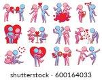 vector set of twelve cartoon... | Shutterstock .eps vector #600164033