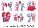 vector set of cartoon images of ... | Shutterstock .eps vector #600164567