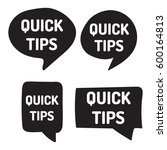 quick tips. hand drawn black... | Shutterstock .eps vector #600164813