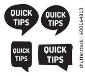 quick tips. hand drawn black... | Shutterstock .eps vector #600164813