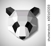 origami head of an panda. paper ... | Shutterstock .eps vector #600165203