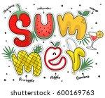 summer poster with fruit...   Shutterstock .eps vector #600169763