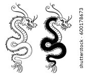 serpent chinese dragon vector... | Shutterstock .eps vector #600178673