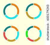 circular arrows set.... | Shutterstock .eps vector #600179243