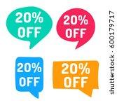20  off. hand drawn speech... | Shutterstock .eps vector #600179717