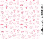 seamless vector pattern with... | Shutterstock .eps vector #600180887