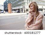 beautiful woman in city ... | Shutterstock . vector #600181277