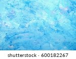 abstract hand painted blue...