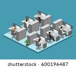 flat 3d isometric abstract...   Shutterstock . vector #600196487