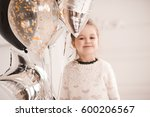 smiling baby girl 4 5 year old... | Shutterstock . vector #600206567