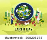 Earth Day Illustration  Two...