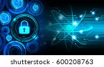 safety concept  closed padlock... | Shutterstock . vector #600208763