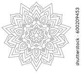 circular geometric ornament....   Shutterstock . vector #600209453