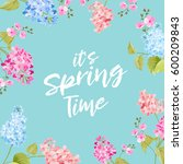 spring time concept of card... | Shutterstock . vector #600209843