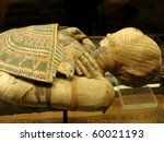 mummy of  pharaoh from a tomb - stock photo