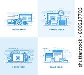 modern flat color line designed ... | Shutterstock .eps vector #600217703