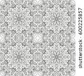 beautiful white mandala.... | Shutterstock .eps vector #600225857