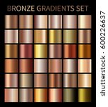 bronze gold gradients.... | Shutterstock . vector #600226637