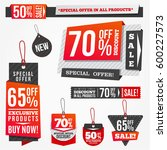 sale tags and special offer... | Shutterstock .eps vector #600227573