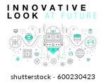trendy innovation systems... | Shutterstock .eps vector #600230423