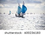 regatta of sailing yachts on... | Shutterstock . vector #600236183