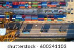 container container ship in... | Shutterstock . vector #600241103