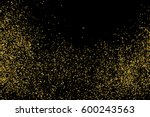 gold glitter texture isolated... | Shutterstock .eps vector #600243563